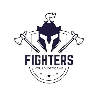 Logo-vorlage für videospiele