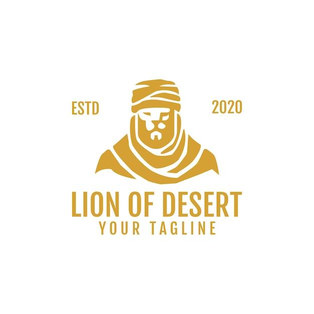 Logo-vorlage löwe der wüste