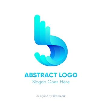 Logo vorlage mit abstrakten formen