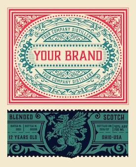 Logo-vorlage mit detailliertem design