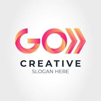 Logo-vorlage mit farbverlauf