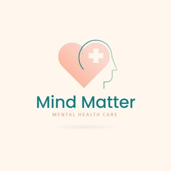 Logo-vorlage mit gradient für psychische gesundheit