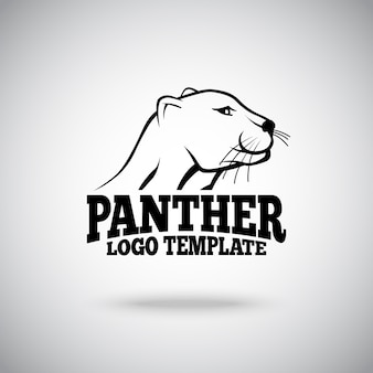 Logo-vorlage mit panther-illustration
