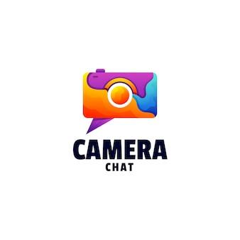 Logo-vorlage von camera gradient colorful style