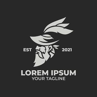 Logo-vorlagen des alten mannes