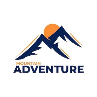 Logo-vorlagen für bergabenteuer