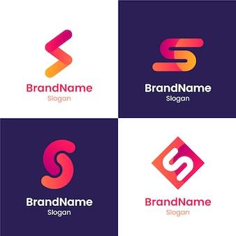 Logo-vorlagen-sammlung des flachen designs