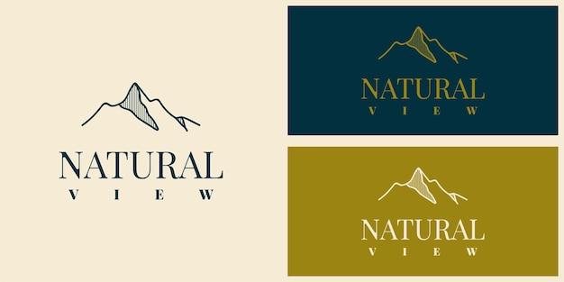 Logo-vorlagendesign mit natürlicher ansicht
