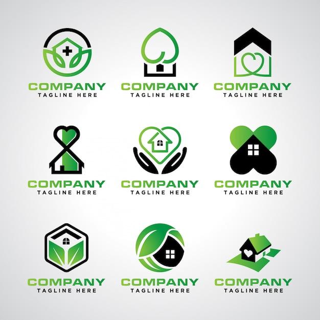 Logo-vorlagenpaket für die häusliche pflege