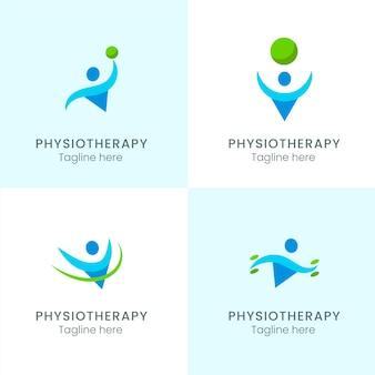 Logo-vorlagensammlung für physiotherapie