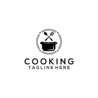 Logo-vorlagenvektor kochen. kochlogo für unternehmen
