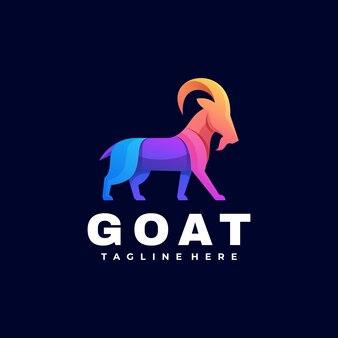 Logo ziege farbverlauf bunter stil.
