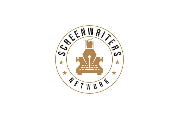Logodesign des drehbuchautors