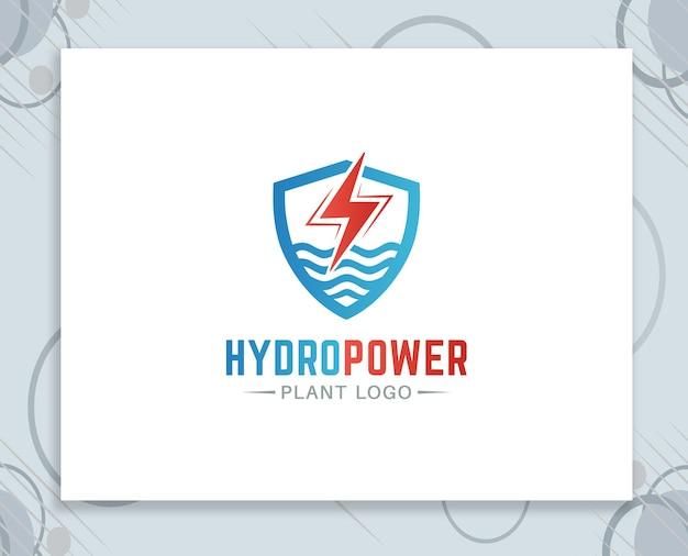 Logodesign des wasserkraftwerks