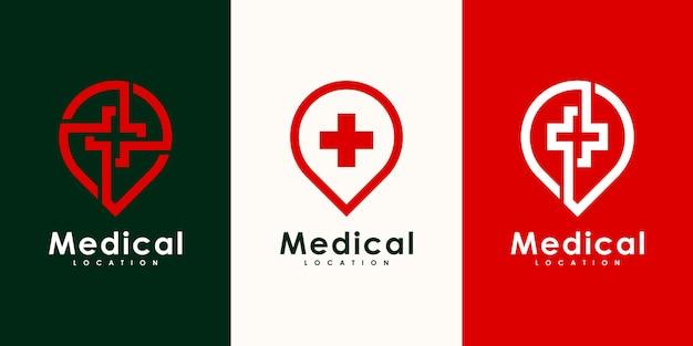 Logodesign für den medizinischen standort