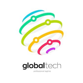 Logodesign für globale technologie