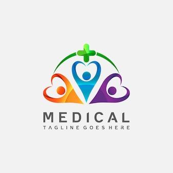 Logodesign für medizin und gesundheitswesen