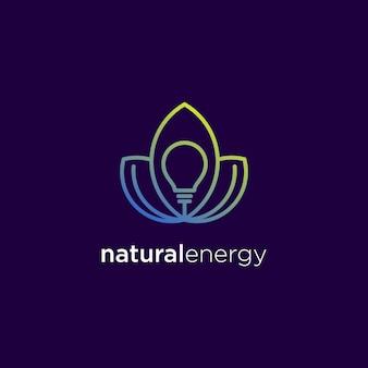Logodesign für natürliche energie