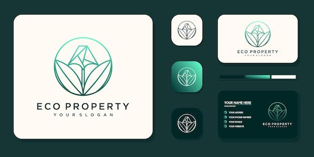 Logodesign für öko-immobilien