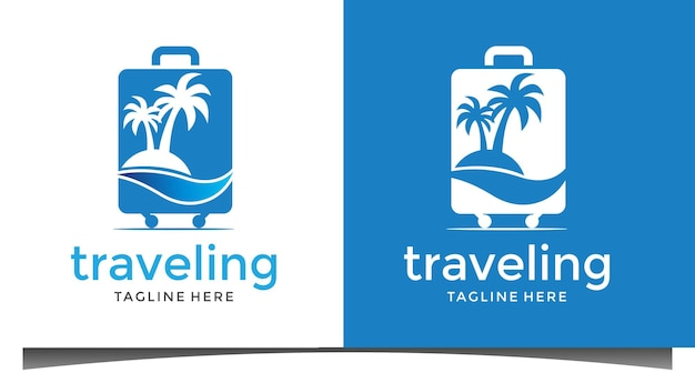 Logodesign für strandreisende