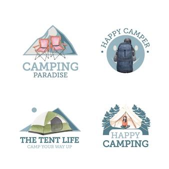 Logodesign mit happy camper konzept