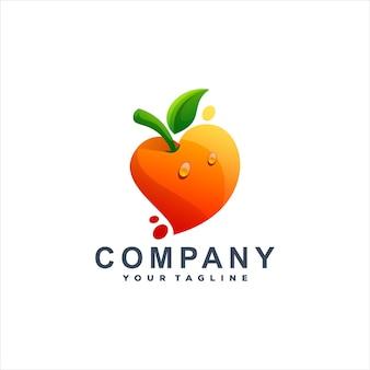 Logodesign mit orangefarbenem farbverlauf
