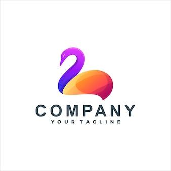 Logodesign mit schwanenfarbverlauf