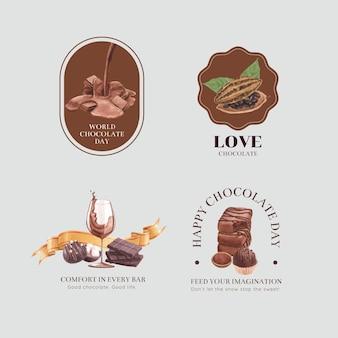 Logodesign mit weltschokoladentag-konzept