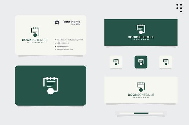 Logodesign, planung von veranstaltungen nach zeitplan, projekttermine. wochenplan. bestelldatum. isolierte vektorillustration