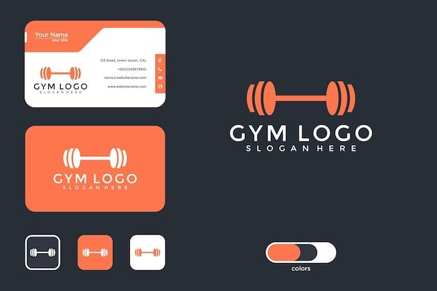 Logodesign und visitenkarte des fitnessstudios