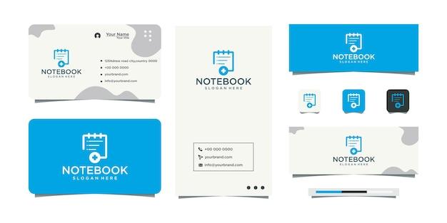 Logodesign und visitenkarte des gesundheitsbuchs