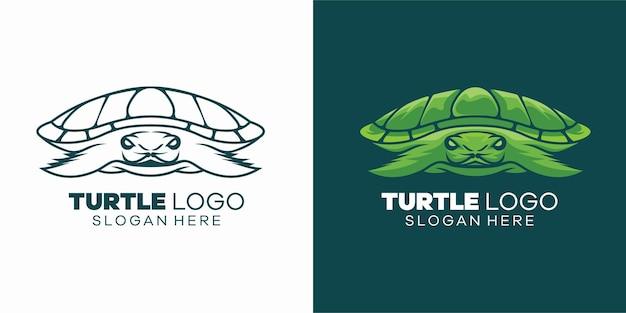 Logoillustration schildkröte einfacher maskottchenstil