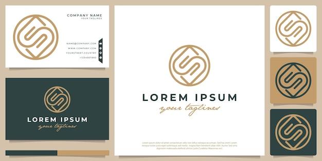 Logoinitiale s minimalistisch abstrakt