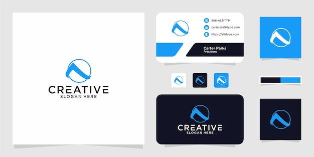 Logoinitialen ein kreisgrafikdesign für andere zwecke ist perfekt