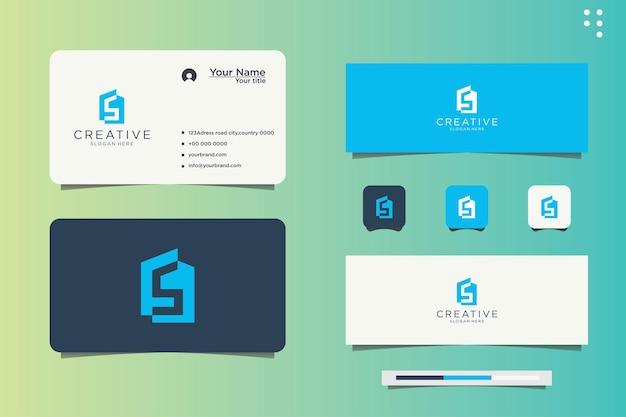 Logoinitialen s haus und visitenkarte