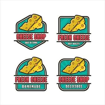 Logokollektion für das design von käsegeschäften