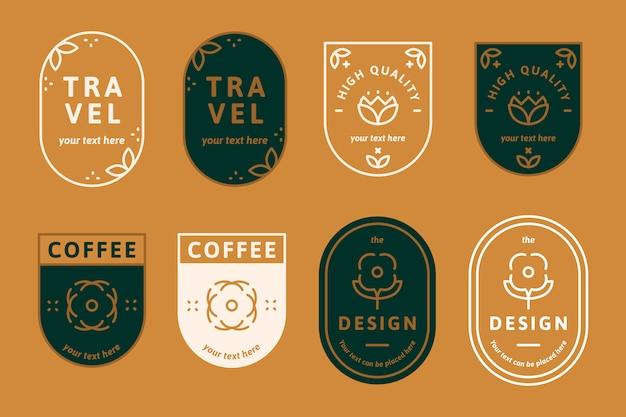 Logos auf orange
