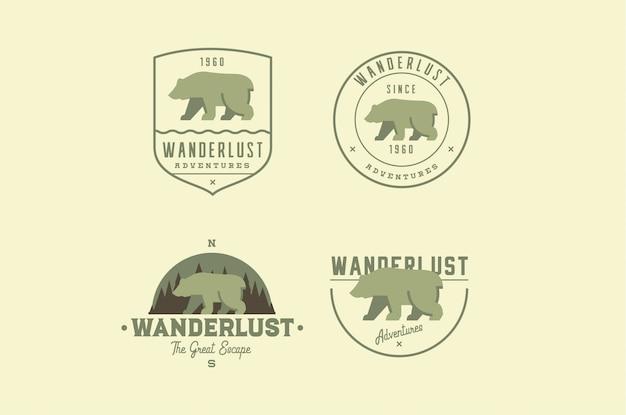Logos für abenteuerreisen