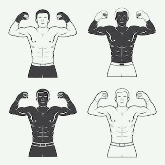 Logos für boxen und kampfsport