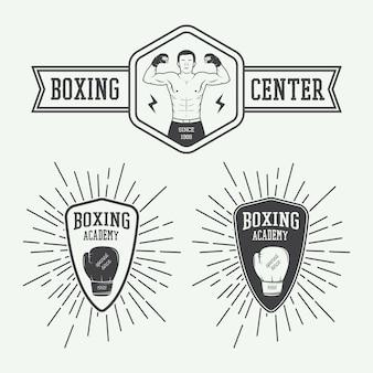Logos für boxsport und kampfsport