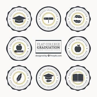 Logos für die graduierung