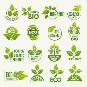 Logos im öko-stil.