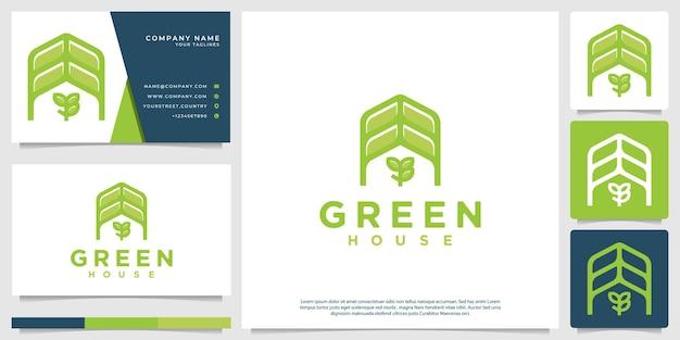 Logos minimalistischer gewächshäuser