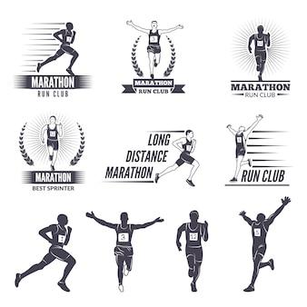 Logos oder etiketten für läufer.