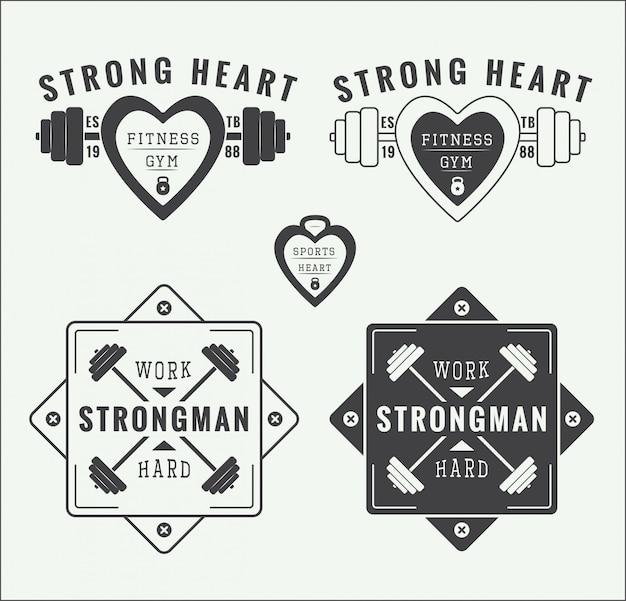 Logos und embleme für fitnessstudios
