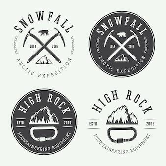 Logos zum bergsteigen