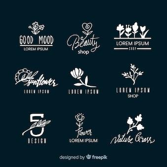 Logosammlung für hochzeitsfloristen