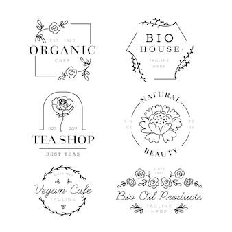 Logosammlung für organisches geschäft