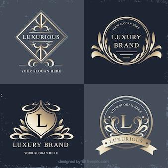 Logosammlung mit vintage- und luxus-stil