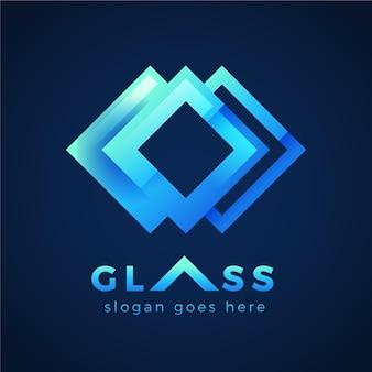 Logovorlage aus glas mit farbverlauf